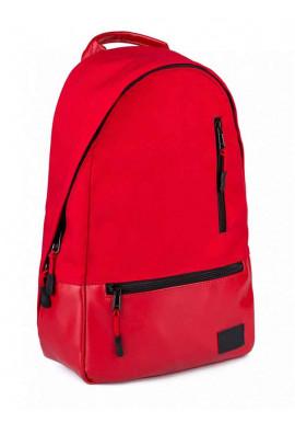 Фото Рюкзак красный из кордура и экокожи ROPER BASIC RED