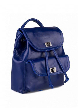 Фото Синий женский рюкзак с накладным карманом BBAG LOVER ROYAL BLUE