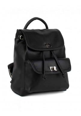 Фото Черный женский рюкзак с накладным карманом BBAG LOVER BLACK