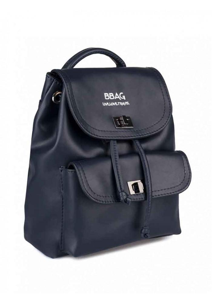 Черный женский рюкзак с накладным карманом BBAG LOVER NAVY