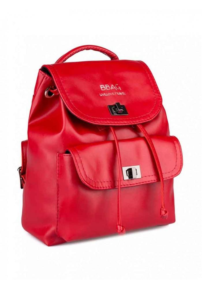 Красный женский рюкзак с накладным карманом BBAG LOVER NAVY