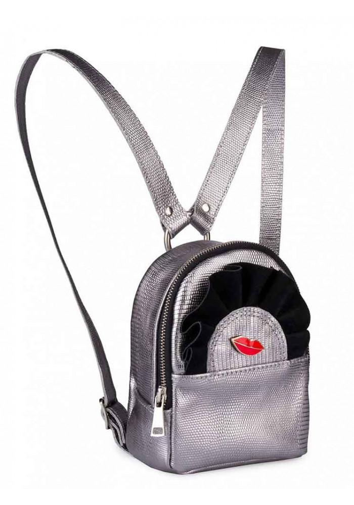 Серебристый женский рюкзак BBAG WINGS SILVER