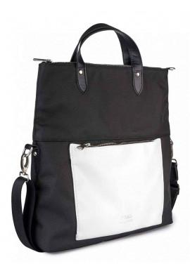 Фото Бело-черная женская сумка через плечо TWIST BLACKWHITE