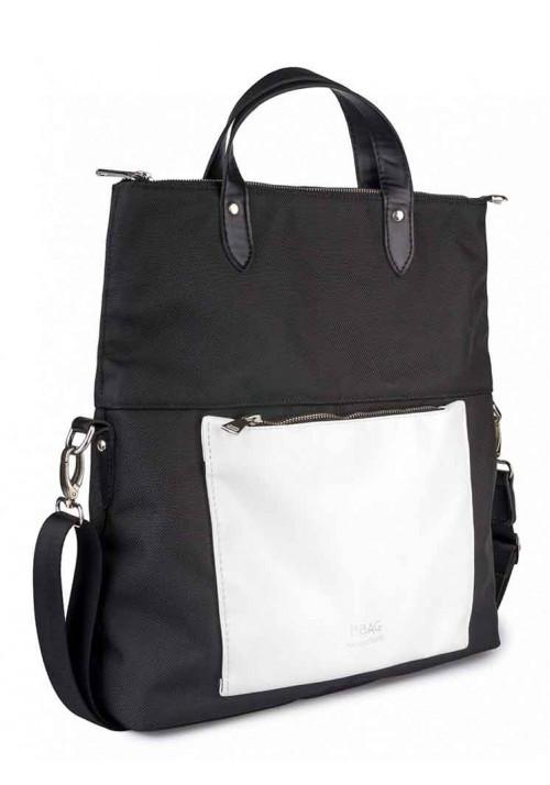 Бело-черная женская сумка через плечо TWIST BLACKWHITE