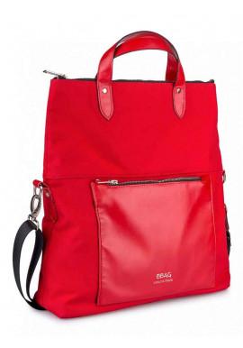 Фото Красная женская сумка через плечо TWIST RED