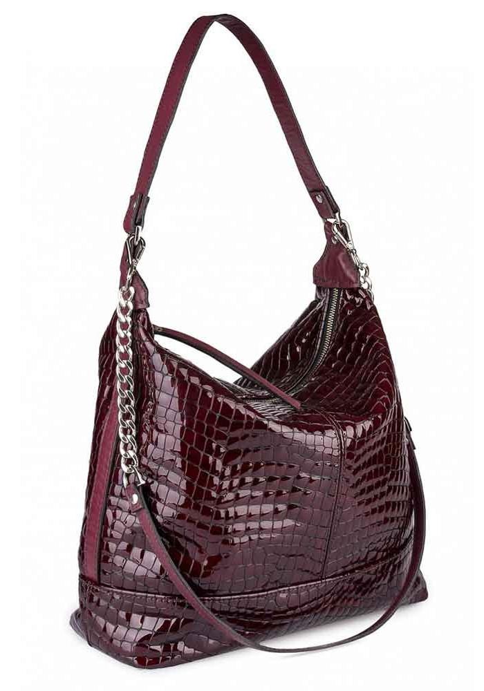 Бордовая женская кожаная сумка CHERRY BORDO