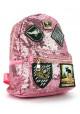 Розовый женский рюкзак 0883