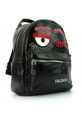 Фото Черный женский рюкзак из экокожи Valensiy 656