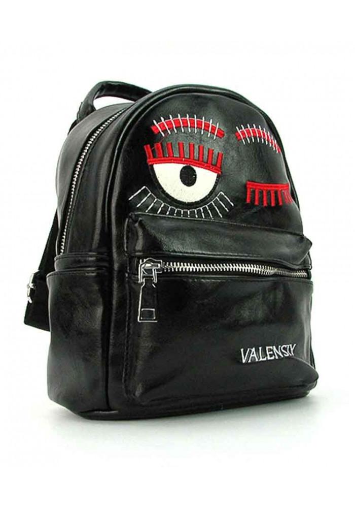 Черный женский рюкзак из экокожи Valensiy 656