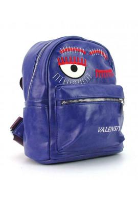 Фото Фиолетовый женский рюкзак из экокожи Valensiy 656