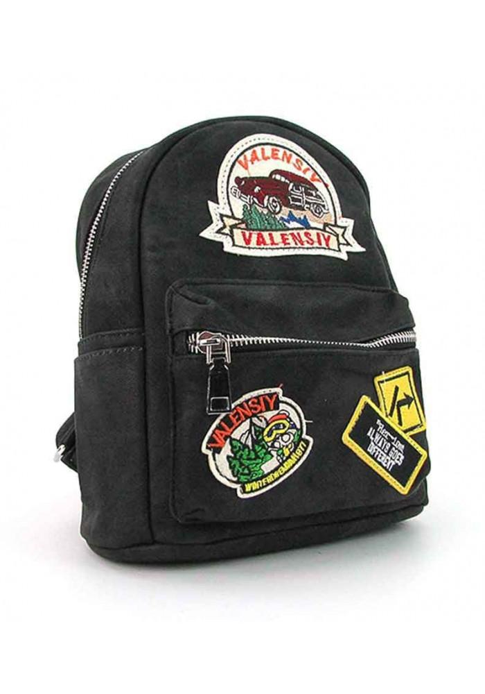 Черный женский рюкзак Valensiy 652-8