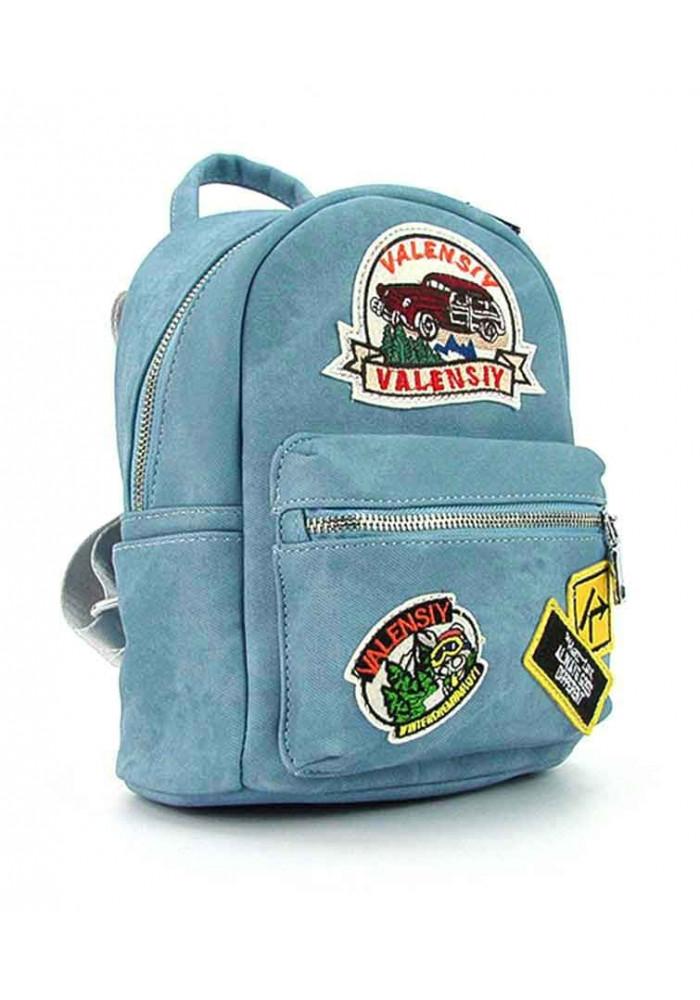 Голубой женский рюкзак Valensiy 652-1