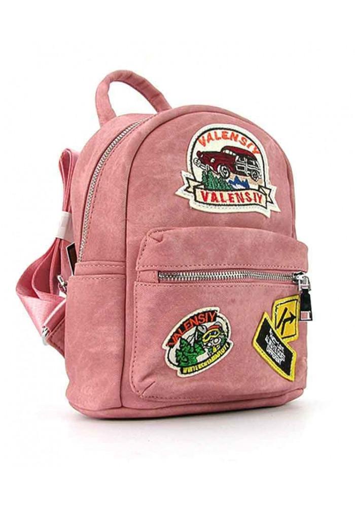 Розовый женский рюкзак Valensiy 652-9