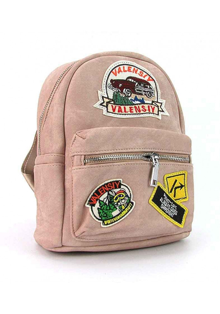 Пудровый женский рюкзак Valensiy 652-11