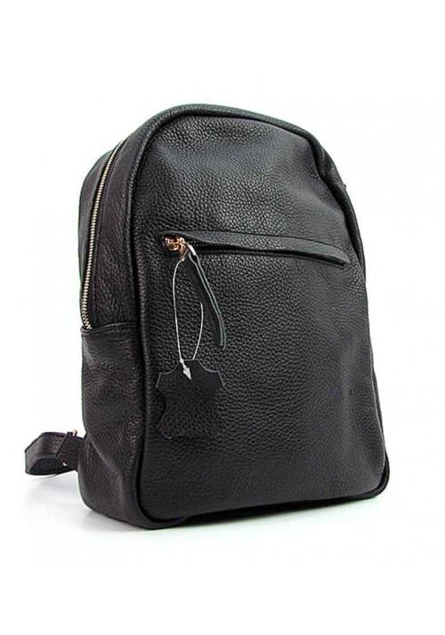 Женский кожаный рюкзак Viladi 037-011 черный