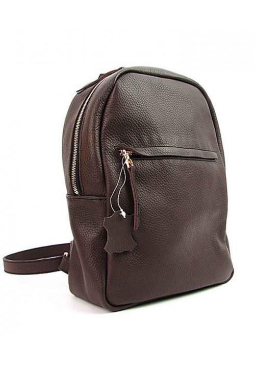 Женский кожаный рюкзак Viladi 038-019 коричневый