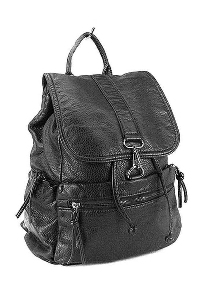 Женский рюкзак черный Farfalla Rosso 6434