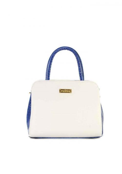 Маленькая бело-синяя женская сумка Betty Pretty