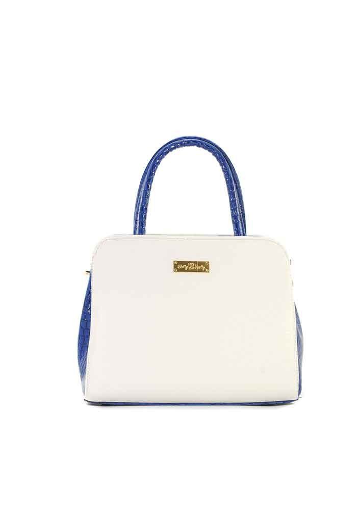 Фото Маленькая бело-синяя женская сумка Betty Pretty 03N-BS