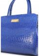 Маленькая синяя лаковая женская сумка Betty Pretty, фото №5 - интернет магазин stunner.com.ua
