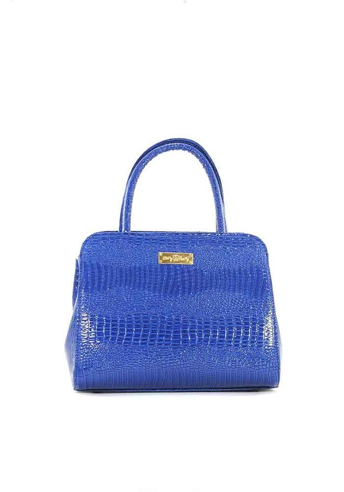 Фото Маленькая синяя лаковая женская сумка Betty Pretty