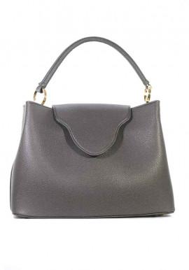 Большая сумка женская цвета графит 08-GRAFIT