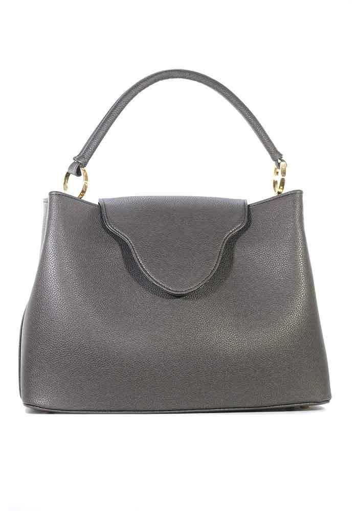 Большая сумка женская цвета графит