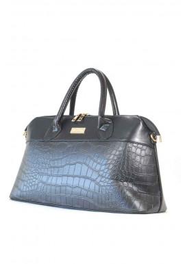 Фото Черная женская сумка кроко 504
