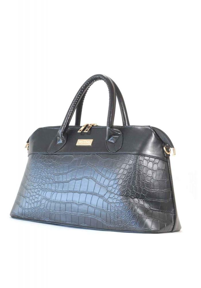 Черная женская сумка кроко