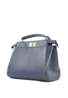 Фото Синяя женская сумка на 2 отдела 05-BLUE