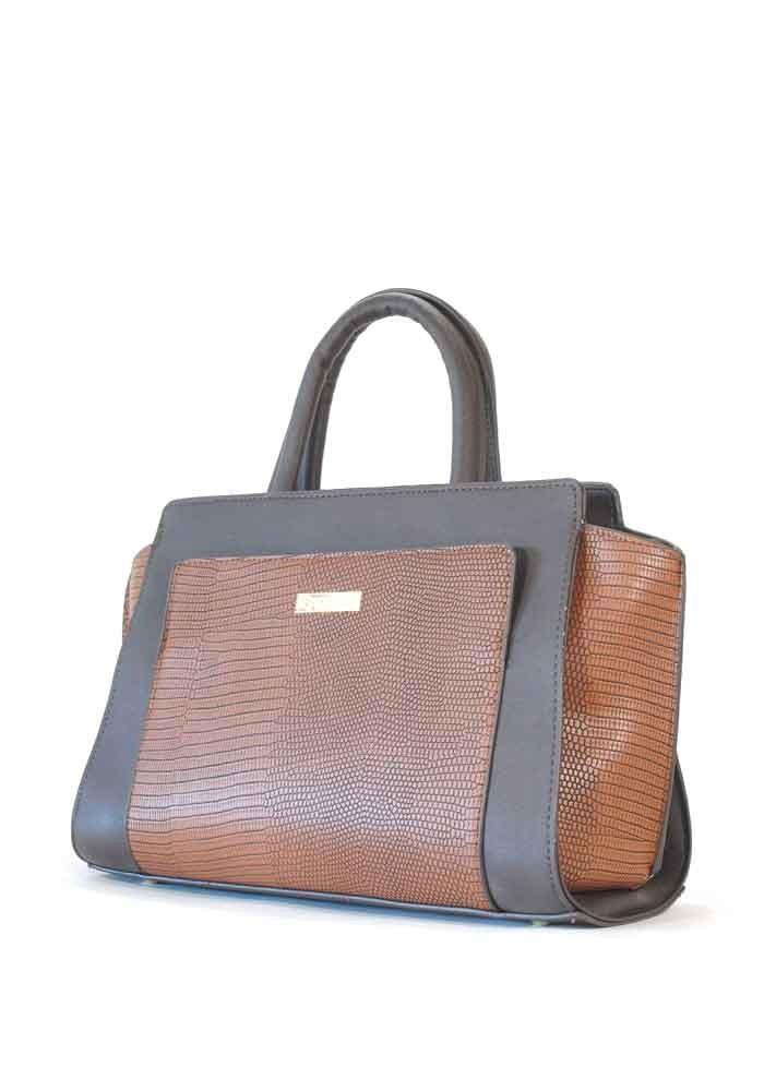 Маленькая коричневая женская сумка 06-KBR-BRN