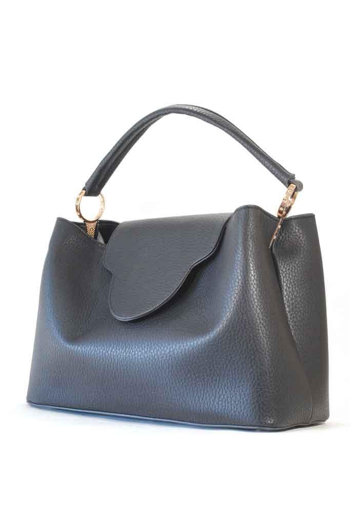 Фото Оригинальная женская сумка мягкой формы 08-BLACK