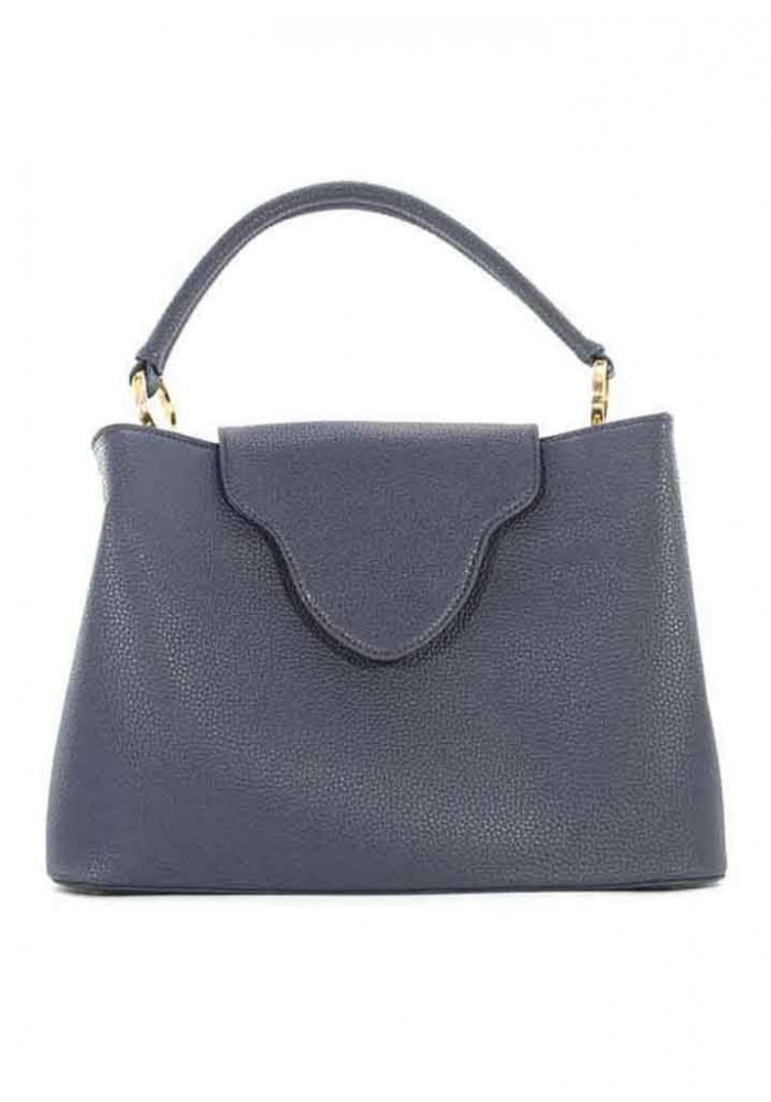 Оригинальная синяя женская сумка мягкой формы