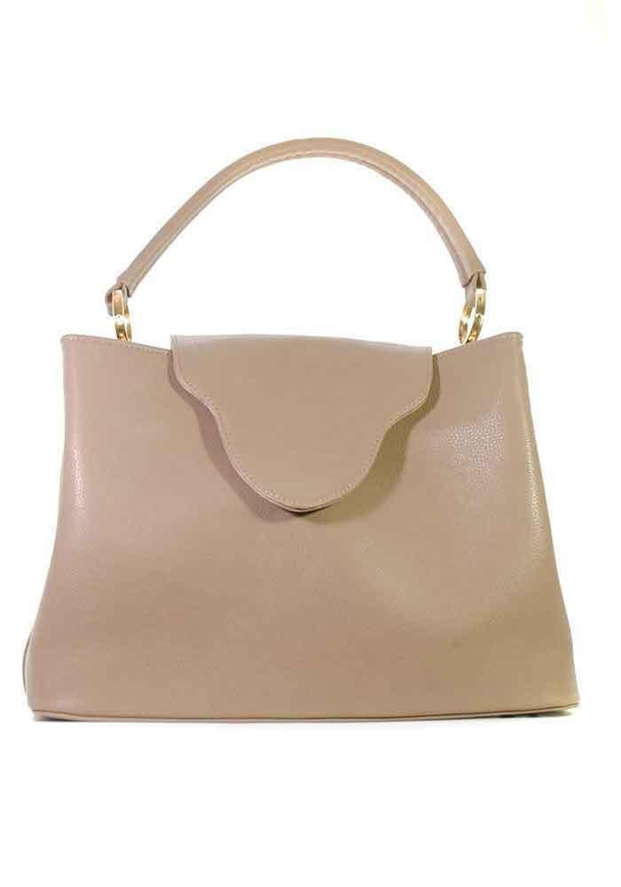 Фото Объемная женская сумка с клапаном 08-GREY