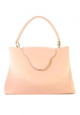 Летняя женская сумка цвета пудры 08-PUDRA