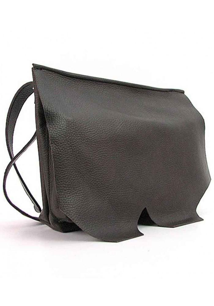 Женская кожаная сумка на плечо Viladi 045 коричневая