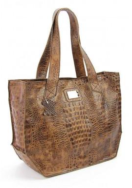 Фото Женская кожаная сумка Viladi 056 коричневая