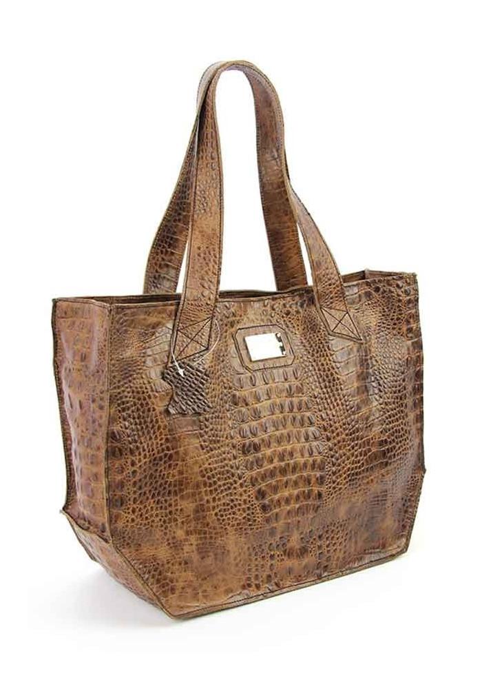 Женская кожаная сумка Viladi 056 коричневая