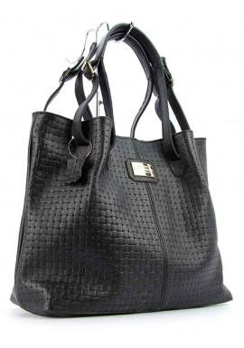 Фото Плетеная женская кожаная сумка Viladi 055