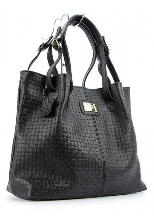 Плетеная женская кожаная сумка Viladi 055