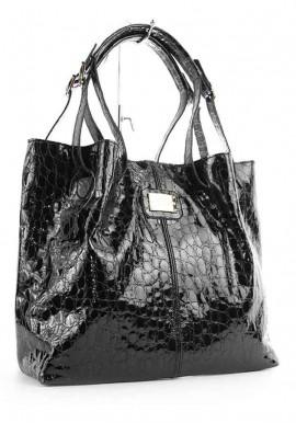 Фото Лаковая женская кожаная сумка Viladi 054
