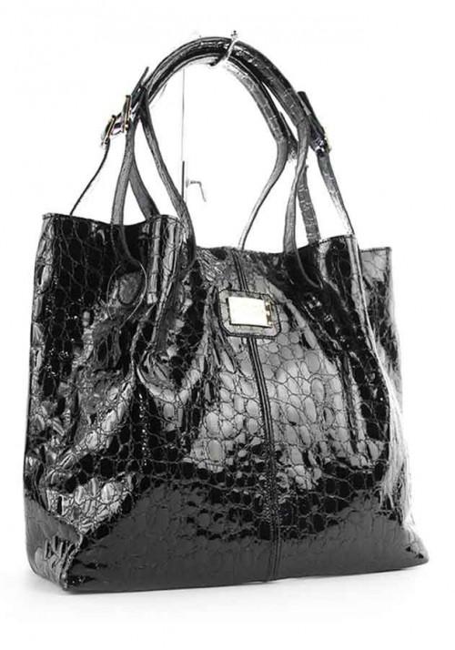 Лаковая женская кожаная сумка Viladi 054