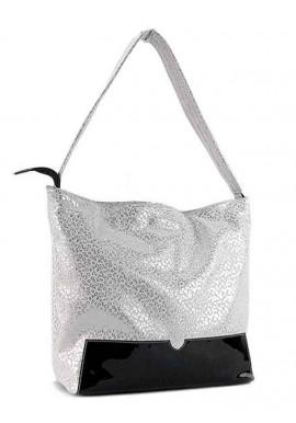 Фото Женская кожаная сумка с лаковой вставкой Viladi 025
