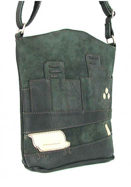 Фото Зеленая женская кожаная сумка на плечо Viladi 002