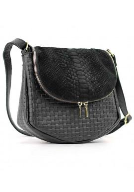 Фото Комбинированная женская кожаная сумка на плечо Viladi 052