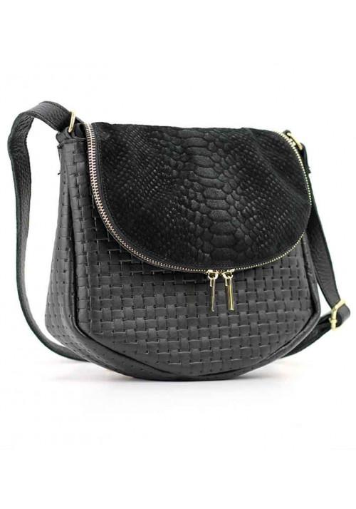 Комбинированная женская кожаная сумка на плечо Viladi 052