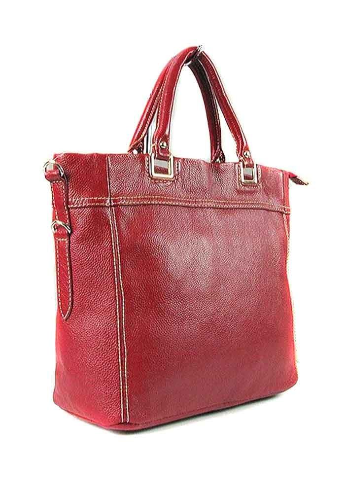 Красная женская кожаная сумка 1041