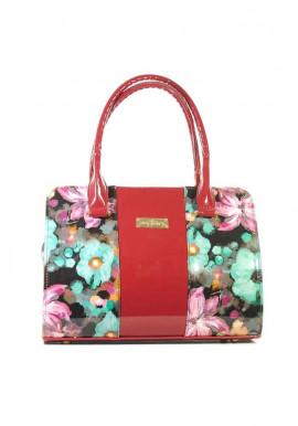 Фото Маленькая лаковая женская сумка с цветами 16TL-FLOWERS