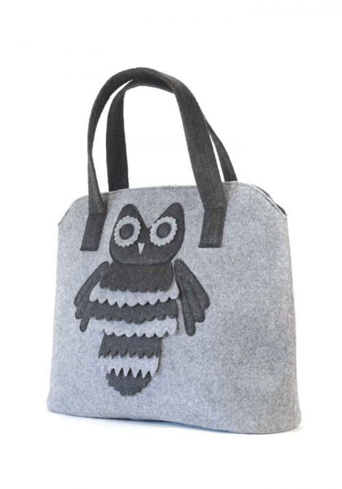 Женская сумка из войлока с совой
