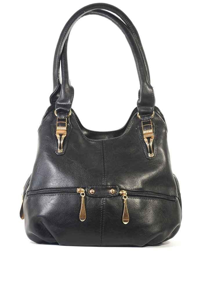 Мягкая женская сумка на три отделения - фото